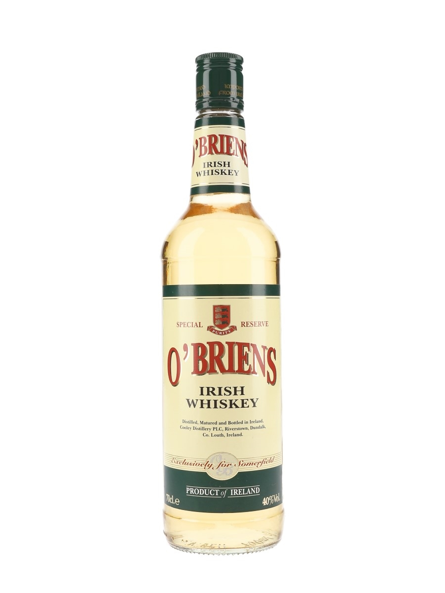 O'Briens Irish Whiskey Cooley Distillery - Exclusively for Somerfield 70cl / 40%
