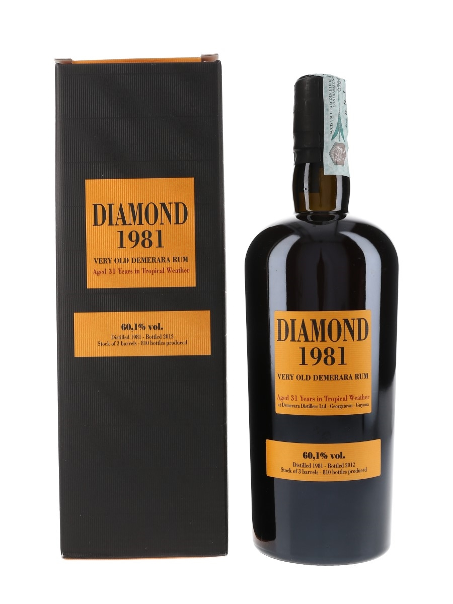 Diamond 1981 31 Year Old Very Old Demerara Rum Bottled 2012 - Velier 70cl / 60.1%