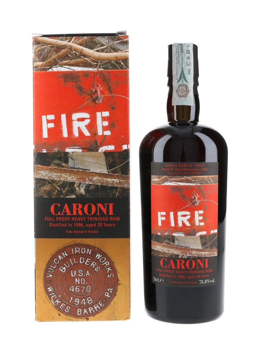 Caroni 1996 20 Year Old Full Proof Trinidad Rum Bottled 2016 - Velier - Selected By Old Whisky 70cl / 70.8%