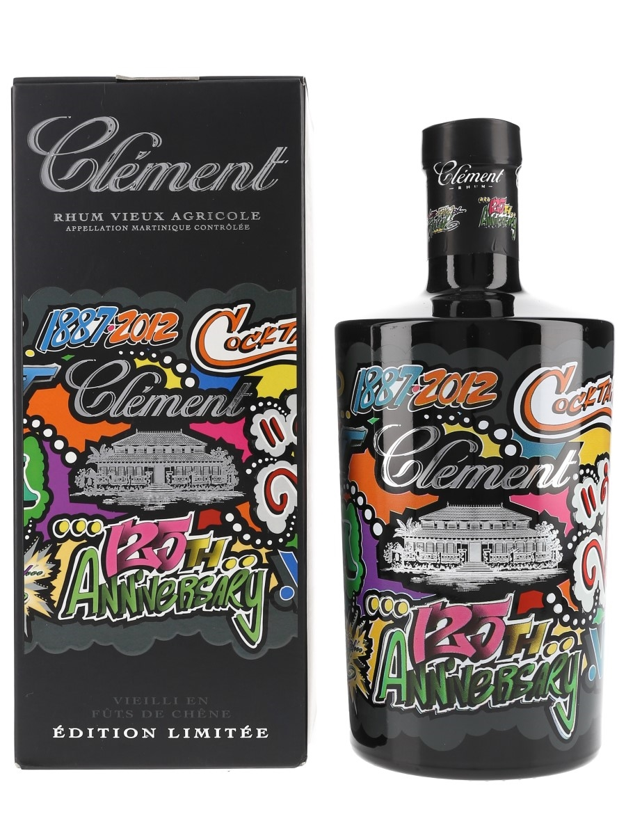 Clement Rhum VSOP With Pin Badge & Tattoo 125th Anniversary - Jonone 70cl / 40%