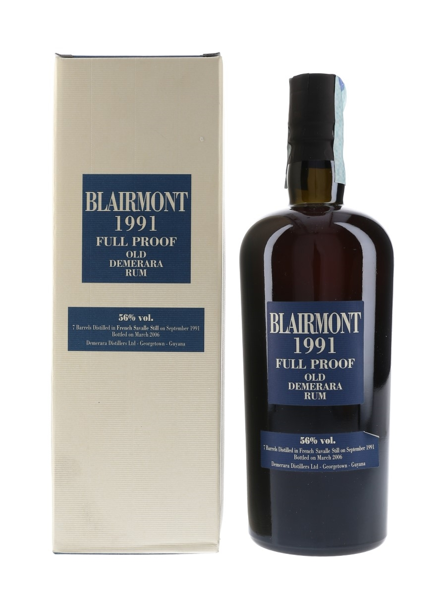 Blairmont 1991 15 Year Old Full Proof Old Demerara Rum Bottled 2006 - Velier 70cl / 56%