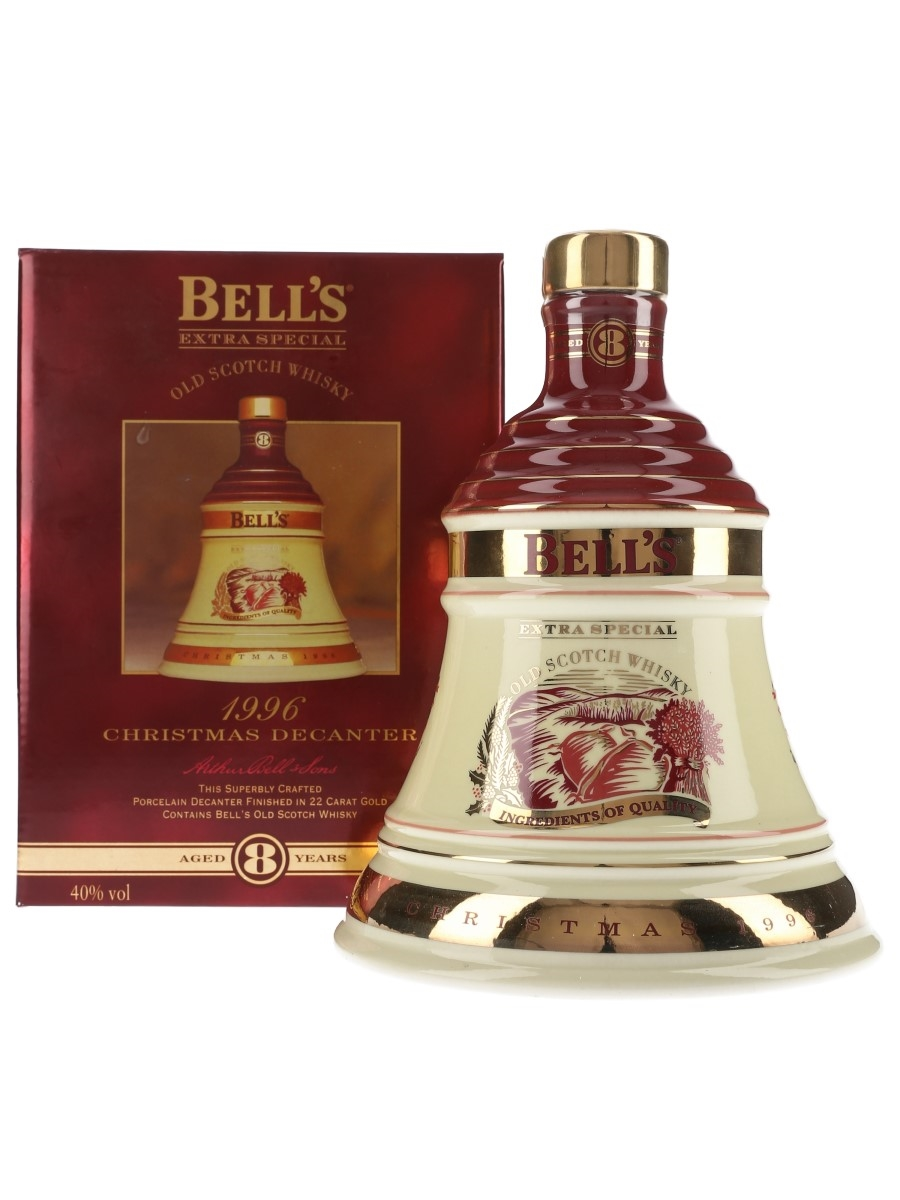 Bell's Christmas 1996 Ceramic Decanter Ingredients Of Quality 70cl / 40%