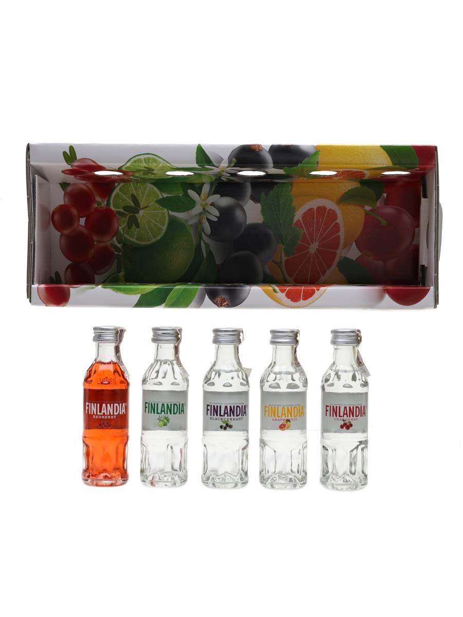 Finlandia Flavoured Vodka  5 x 5cl / 37.5%