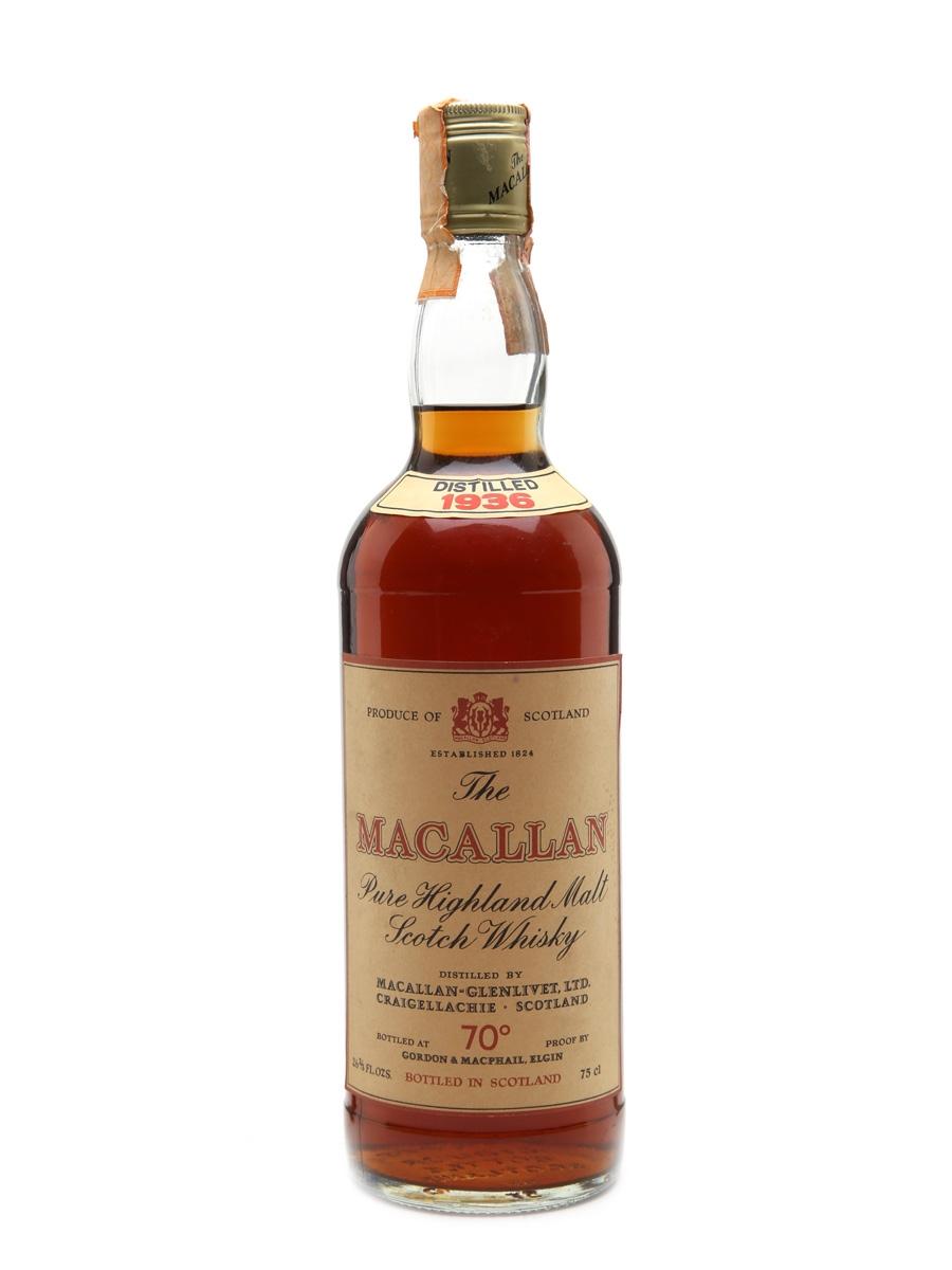 Macallan 1936 - 70 Proof Gordon & MacPhail Bottled 1970s 75cl