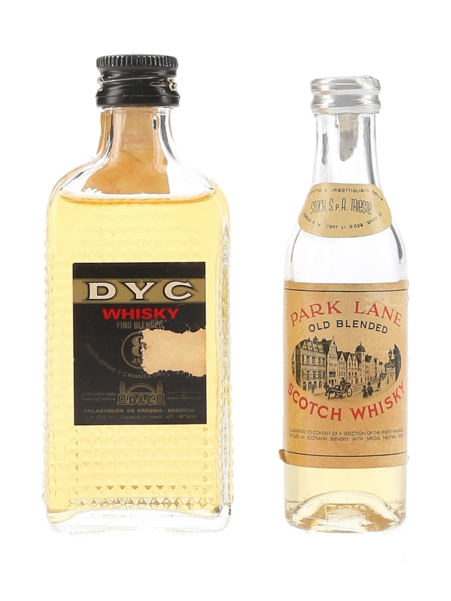 DYC & Park Lane Bottled 1970s 3cl & 5cl