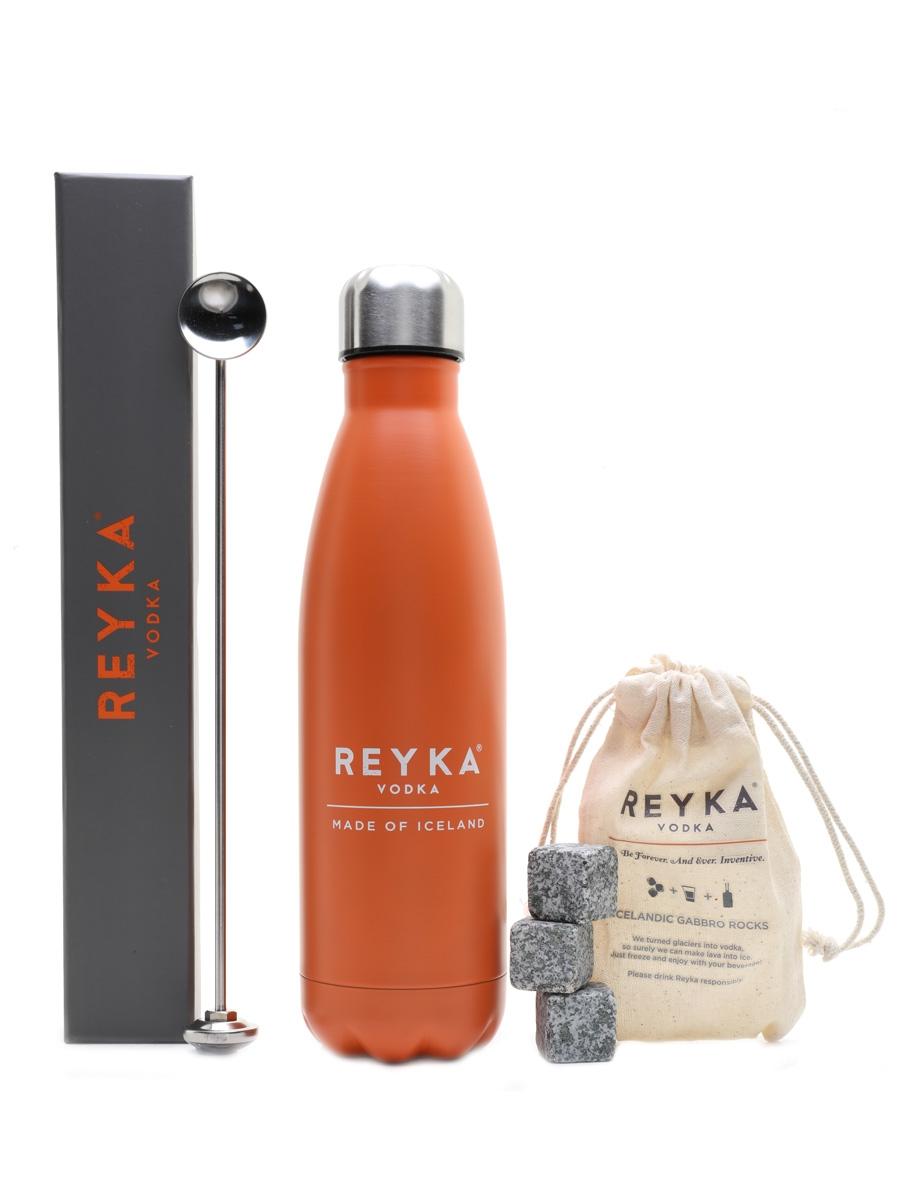Reyka Accessories Kit Stud Puffin Flask, Thermo Spoon, Lava Rocks