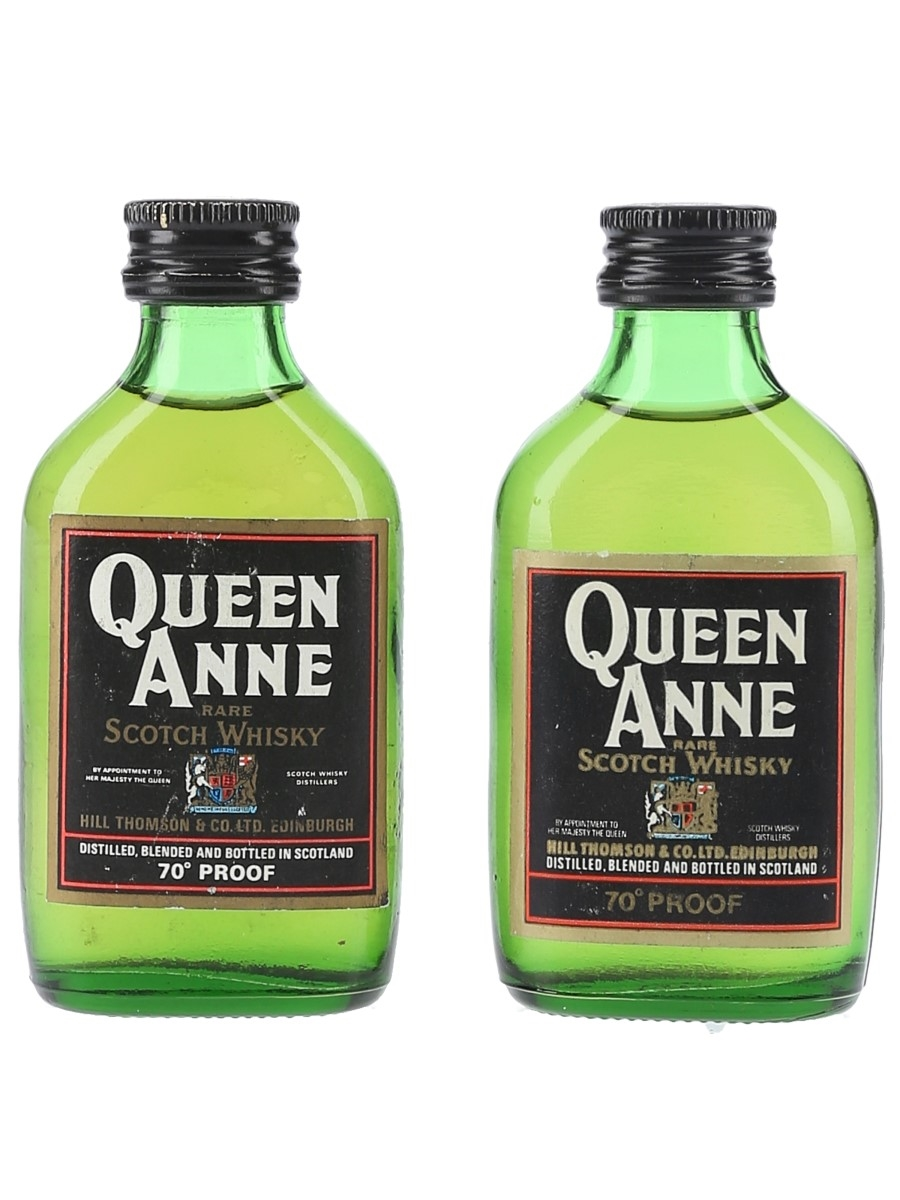 Queen Anne Rare Scotch Whisky Bottled 1970s 2 x 5cl / 40%