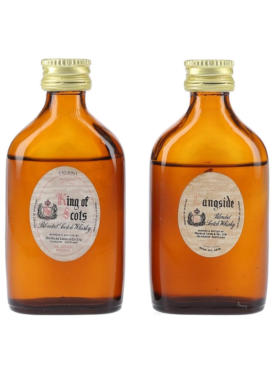King Of Scots & Langside Bottled 1960s - Douglas Laing 2 x 5.7cl