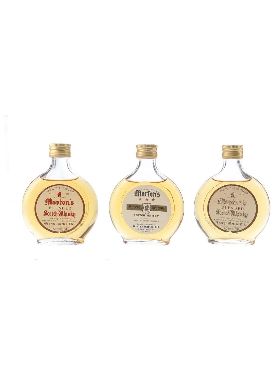 Morton's Blended Scotch Bottled 1970s 3 x 7cl / 40%