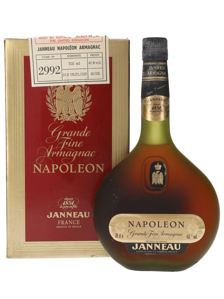 Janneau Napoleon Armagnac Bottled 1980s - Duty Free 70cl / 40%