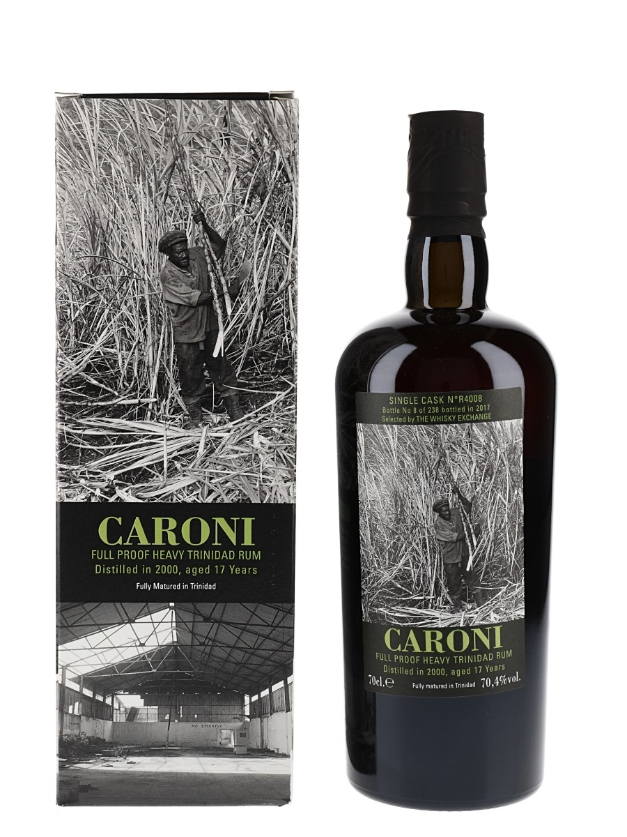 Caroni 2000 17 Year Old Full Proof Heavy Trinidad Rum - Bottle No. 8 Bottled 2017 - The Whisky Exchange 70cl / 70.4%