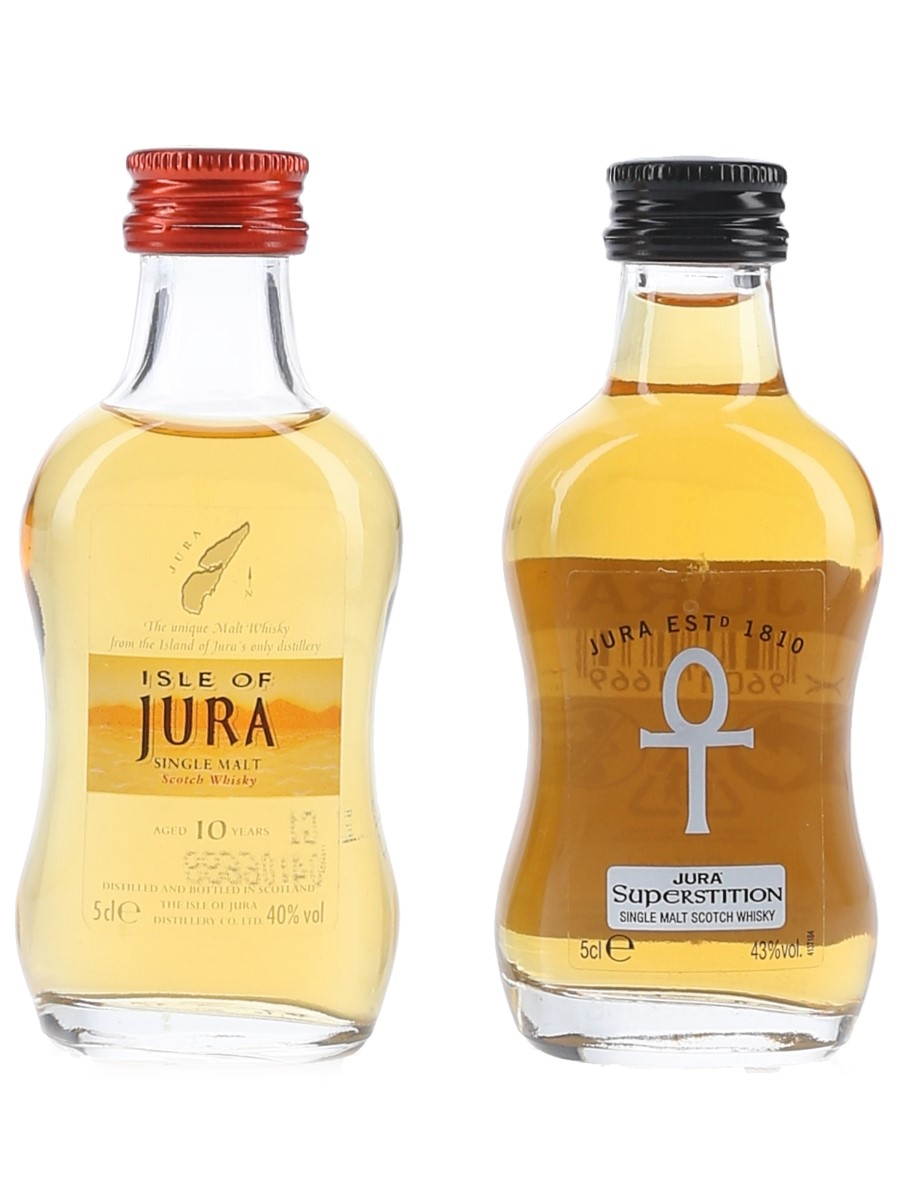 Isle Of Jura 10 Tear Old & Superstition  2 x 5cl