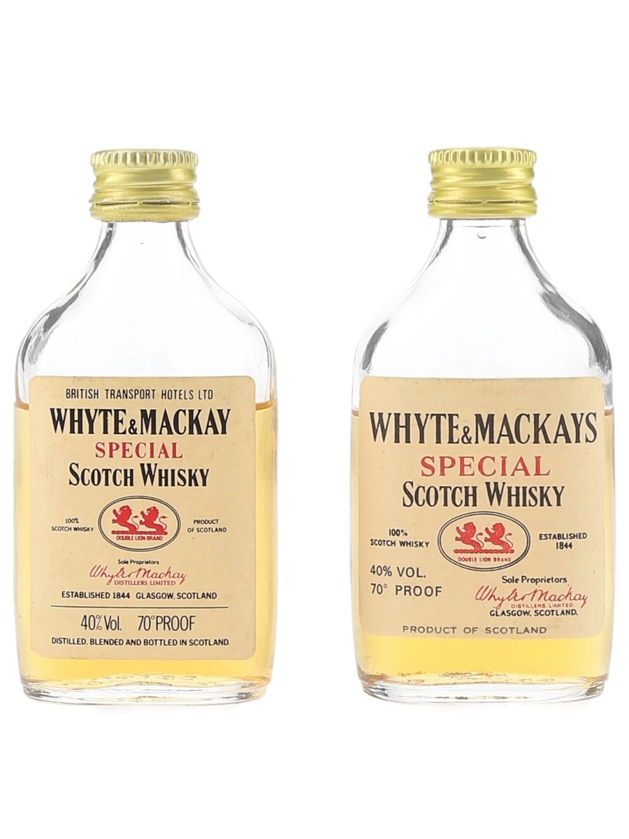 Whyte & Mackay Special Bottled 1970s-1980s 2 x 5cl / 40%