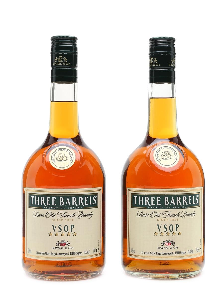 Three Barrels VSOP Brandy  2 x 70cl