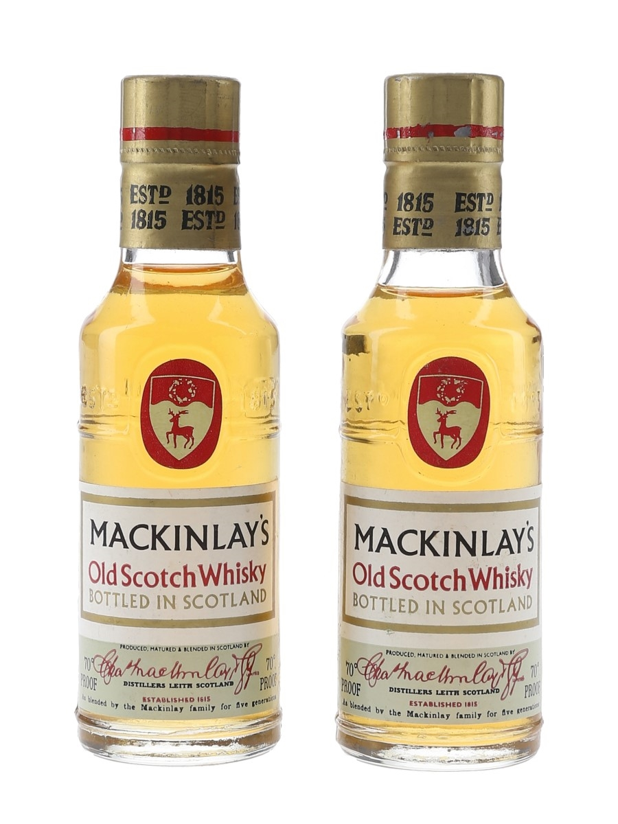 Mackinlay's Old Scotch Whisky Bottled 1960s 2 x 5cl / 40%