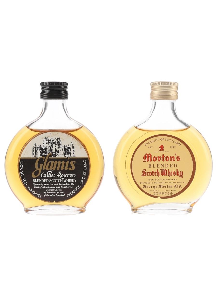 Glamis Castle Reserve & Morton's Bottled 1970s 2 x 5cl