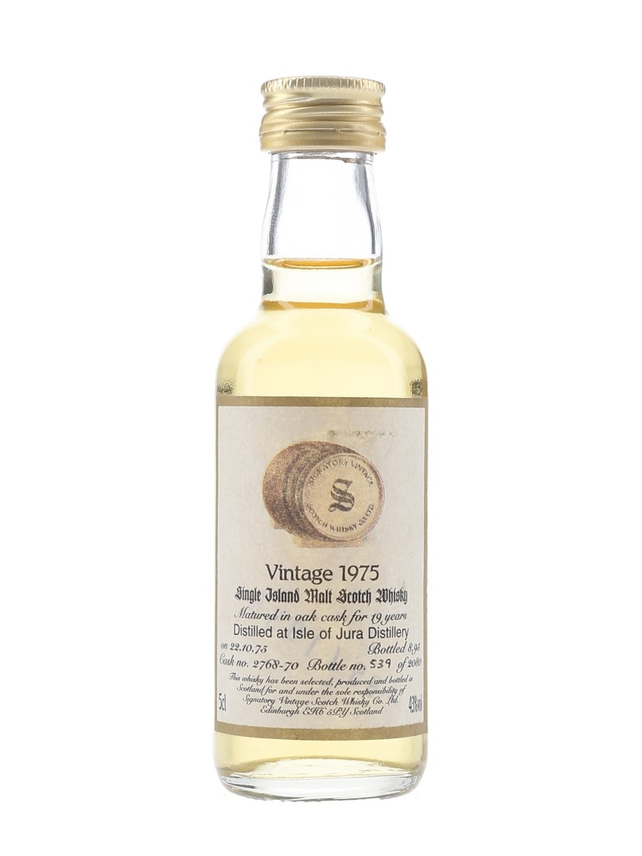 Isle Of Jura 1975 19 Year Old Bottled 1995 - Signatory Vintage 5cl / 43%