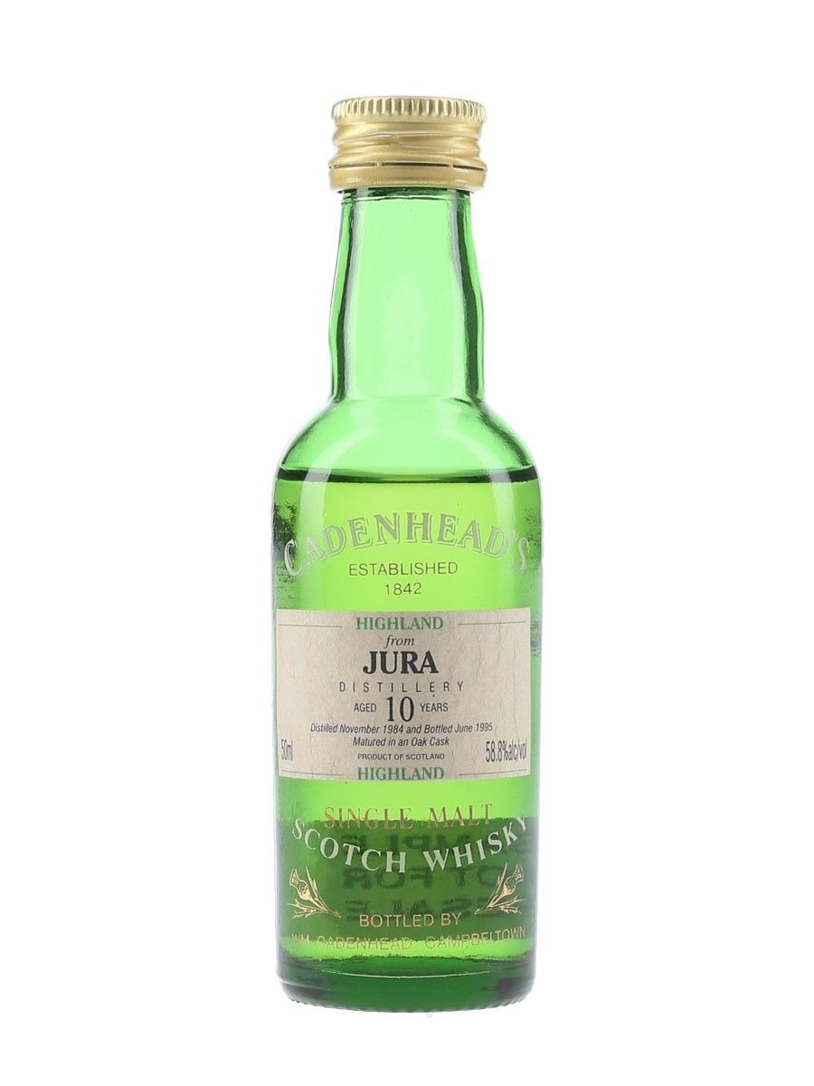 Jura 1984 10 Year Old Bottled 1995 - Cadenhead's 5cl / 58.8%