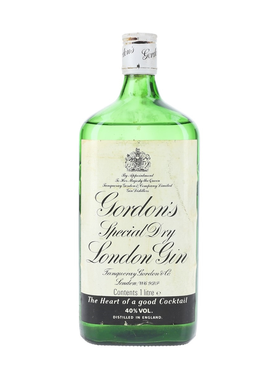 Gordon's Special Dry London Gin Bottled 1980s 100cl / 40%