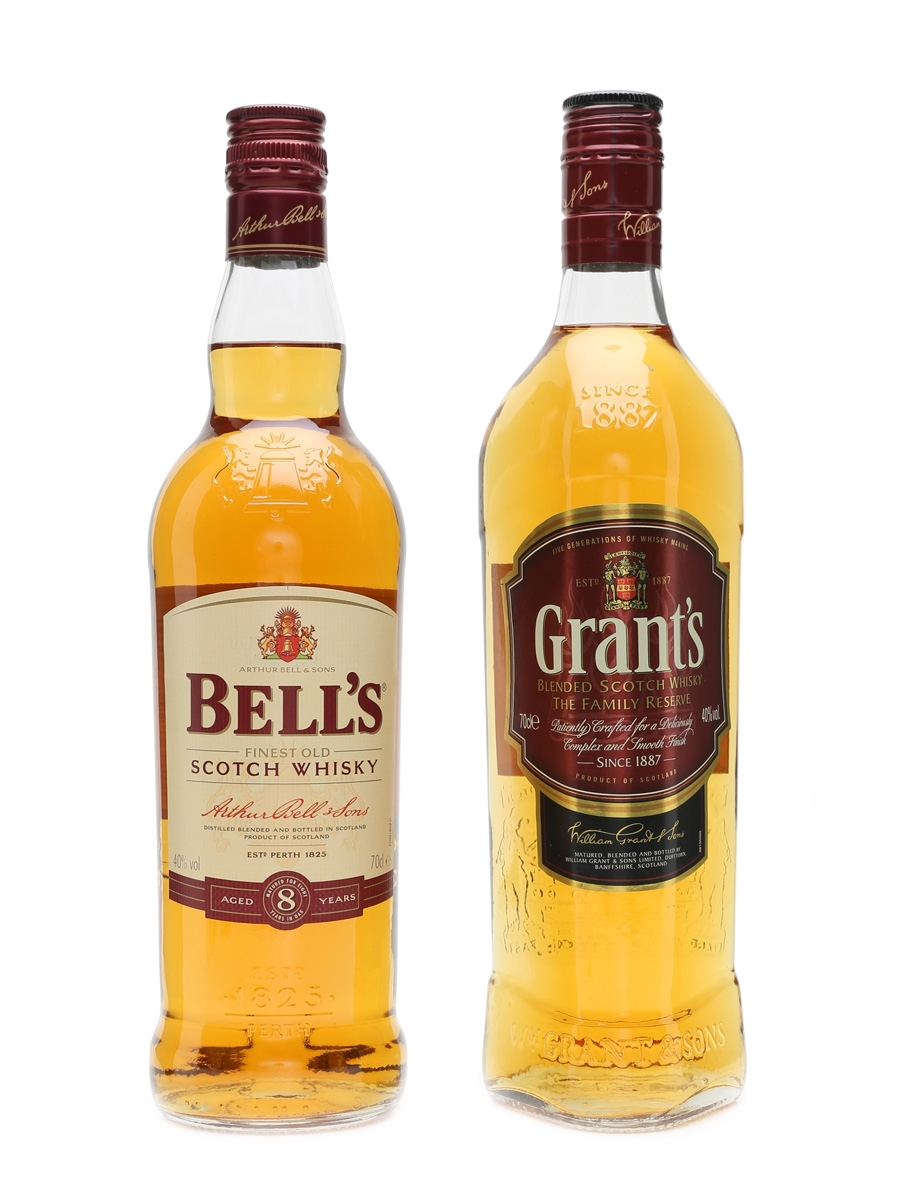 Bell's 8 Year Old & Grant's Family Reserve  2 x 70cl / 40%