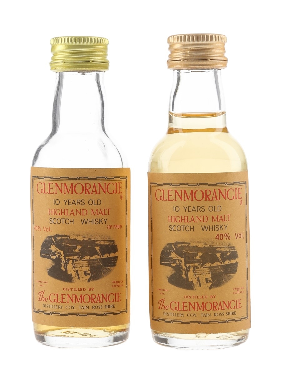 Glenmorangie 10 Year Old Bottled 1970s & 1980s 2 x 5cl / 40%