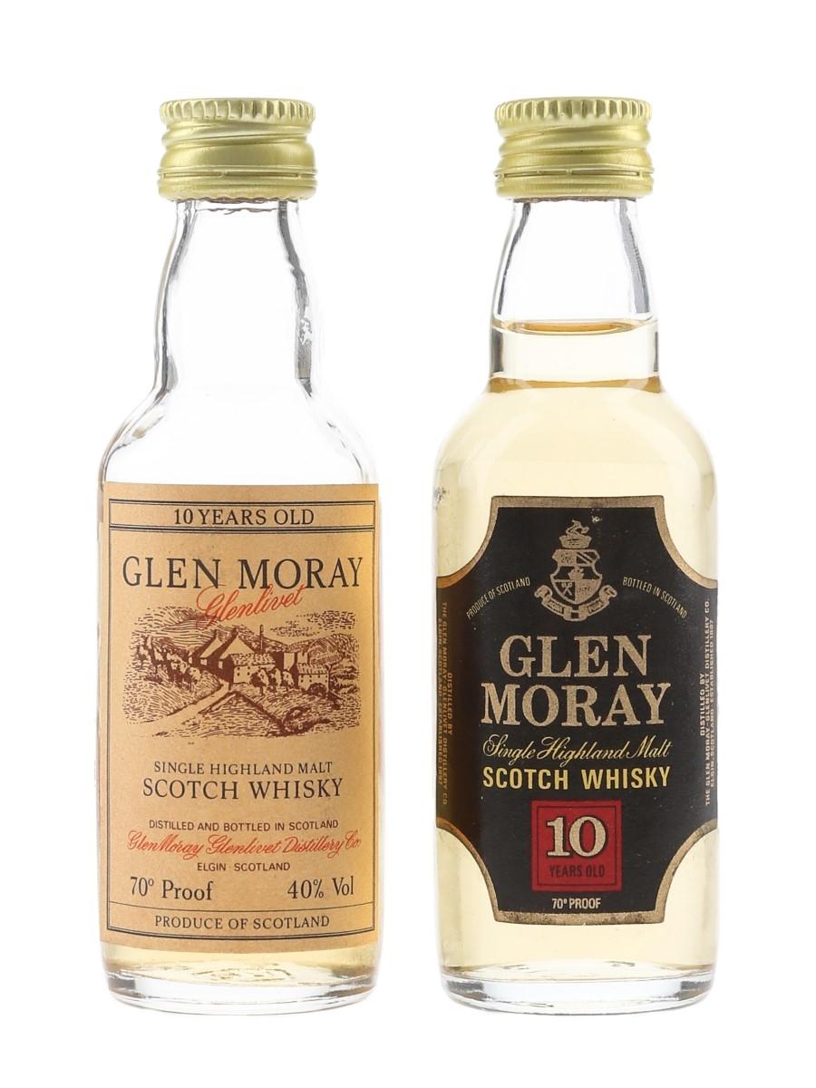 Glen Moray Bottled 1970s & 1980s 2 x 5cl / 40%