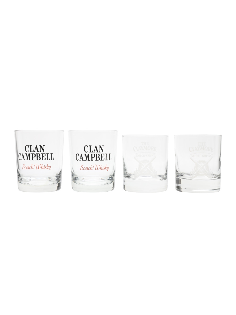 Clan Campbell & The Claymore Whisky Tumblers