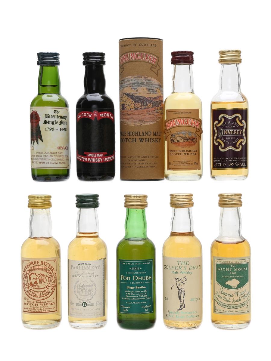 Assorted Single Malt Scotch Whisky  9 x 5cl / 40%