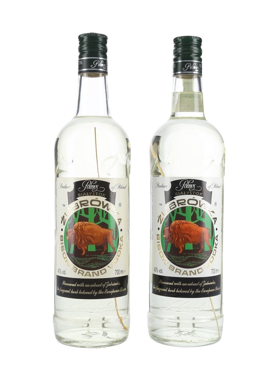 Zubrowka Bison Brand Vodka Bottled 2005 2 x 70cl / 40%