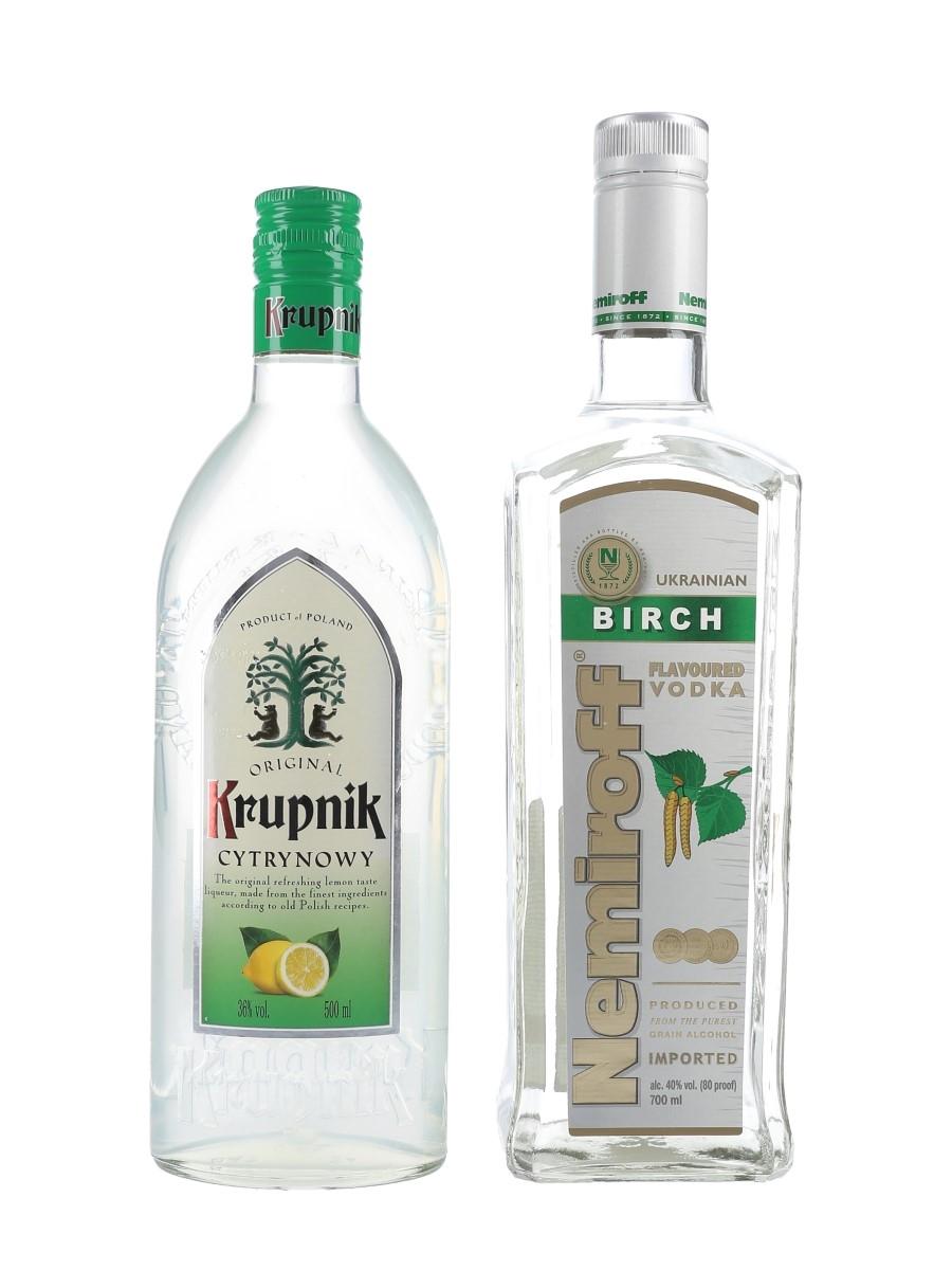 Nemiroff & Krupnik Flavoured Vodka  2 x 50cl-70cl