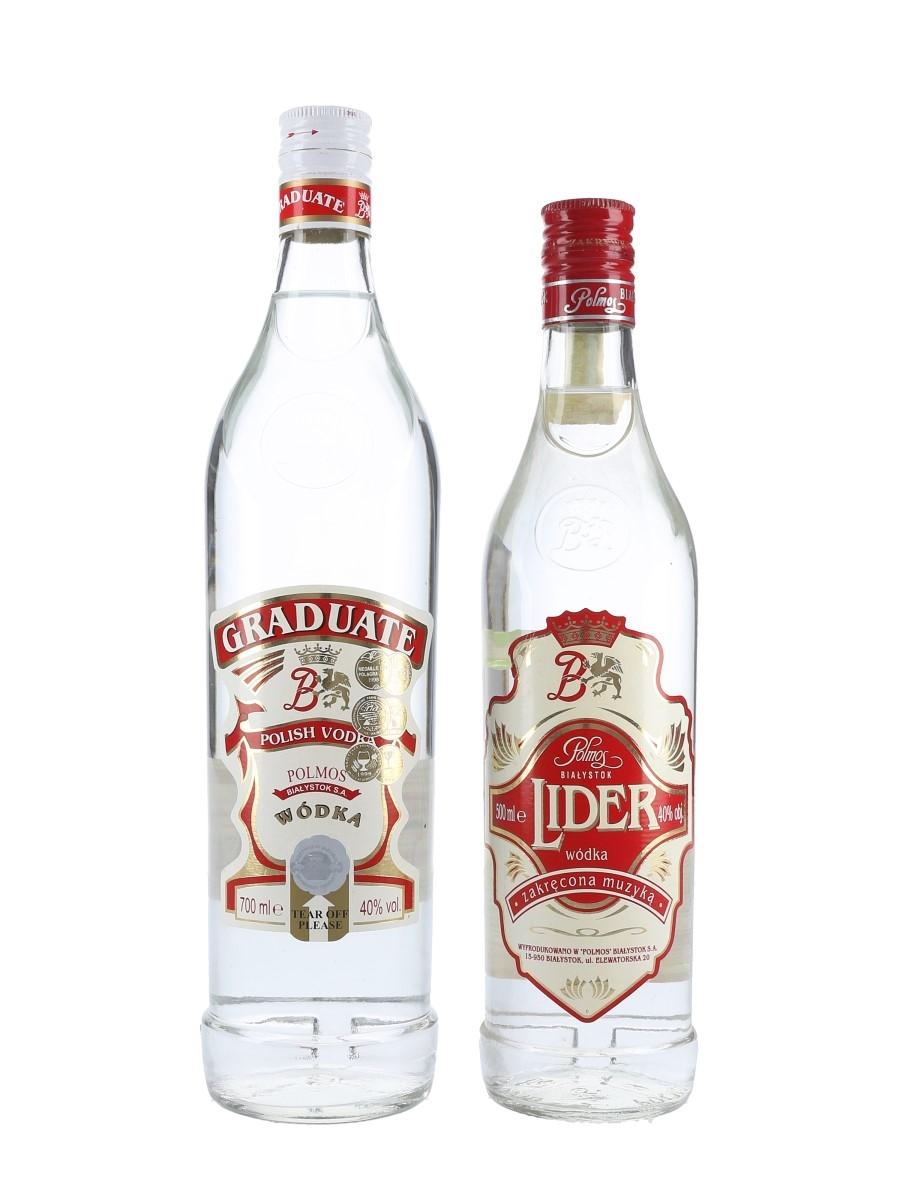 Graduate & Lider Polmos Wodka  2 x 50cl-70cl / 40%
