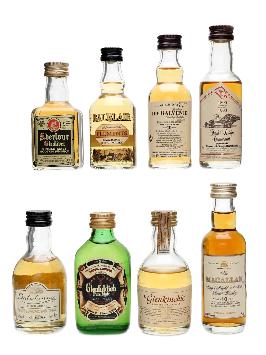 Assorted Speyside Single Malt Whisky Incl. Macallan 10 Year Old 8 x 5cl