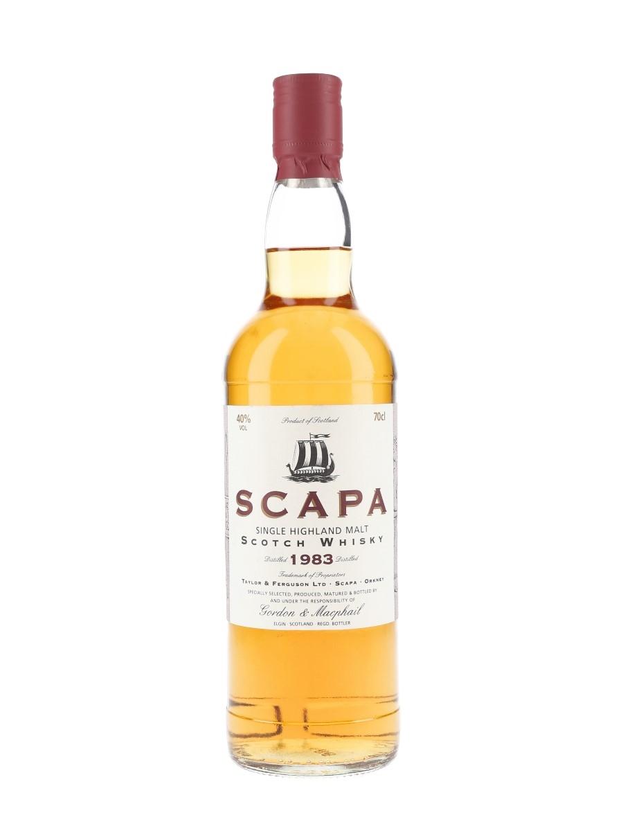 Scapa 1983 Bottled 1990s - Gordon & MacPhail 70cl / 40%