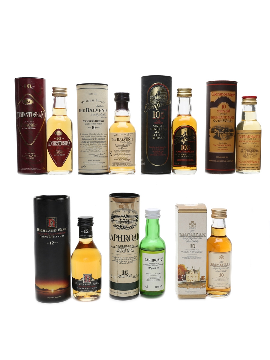 Assorted Single Malt Whisky Incl. Highland Park, Laphroaig & Macallan 7 x 5cl