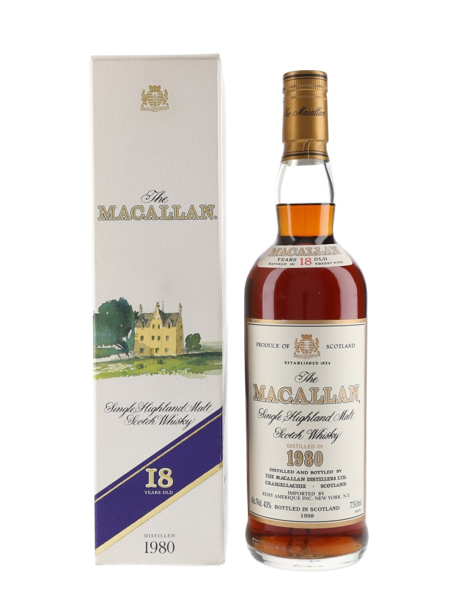 Macallan 1980 18 Year Old Bottled 1998 - Remy Amerique 75cl / 43%