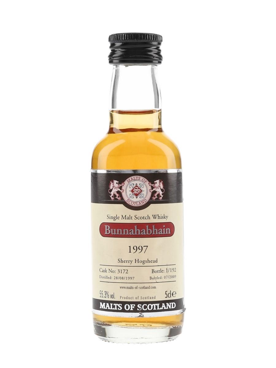 Bunnahabhain 1997 Cask 3172 Bottled 2009 - Malts Of Scotland 5cl / 55.3%