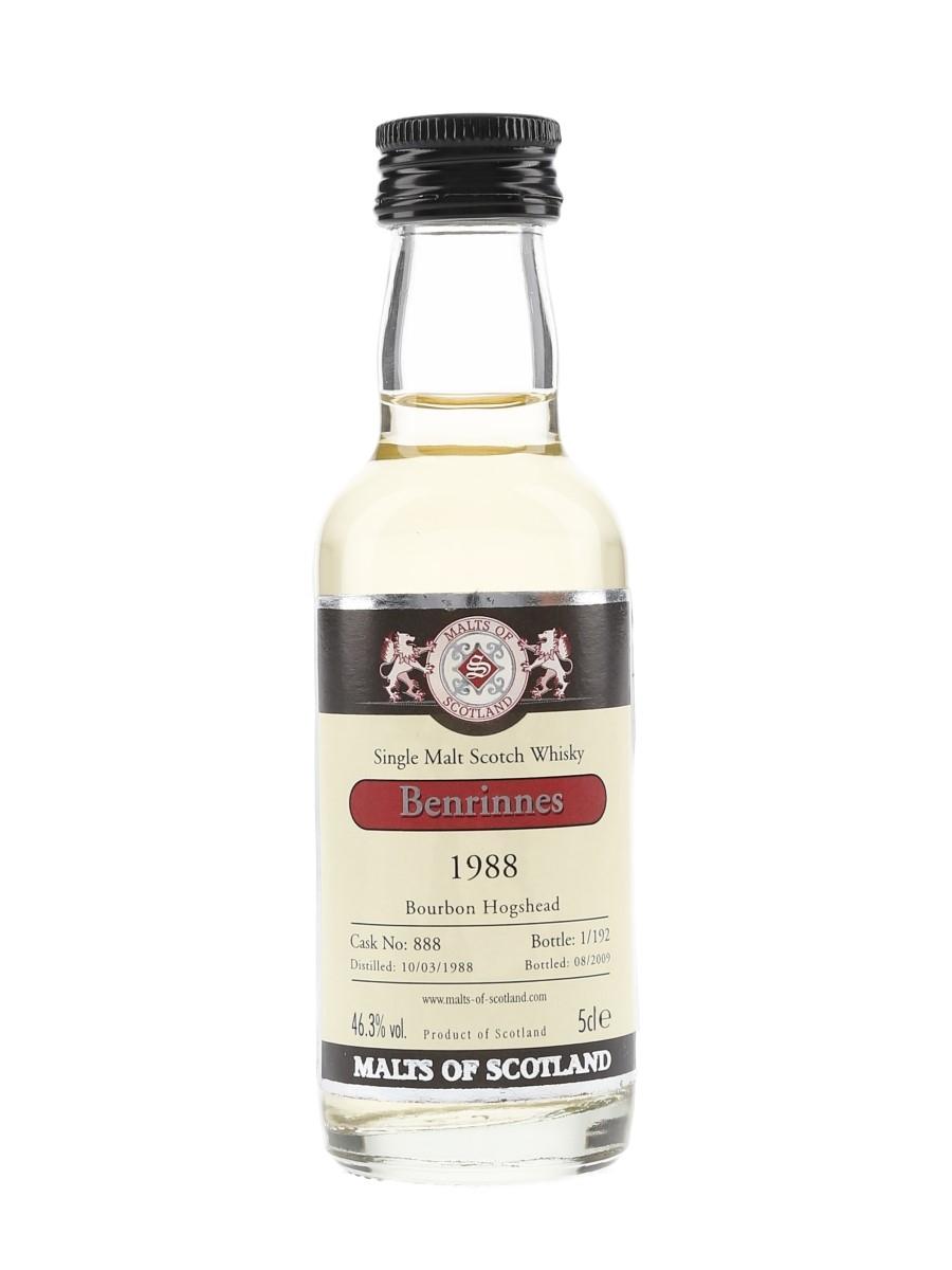 Benrinnes 1988 Cask 888 Bottled 2009 - Malts Of Scotland 5cl / 46.3%