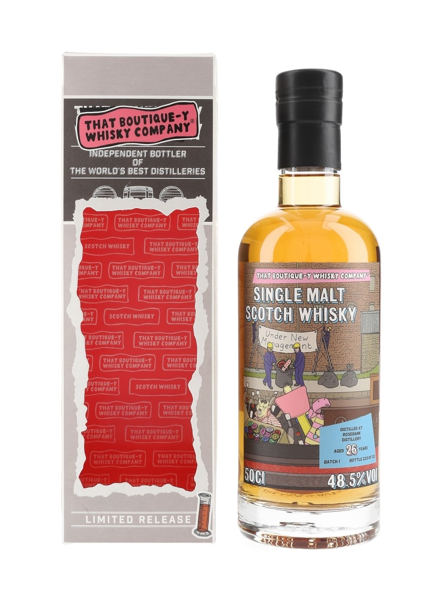 Rosebank 26 Year Old Batch 1 With TBWC Stickers That Boutique-y Whisky Company 50cl / 48.5%