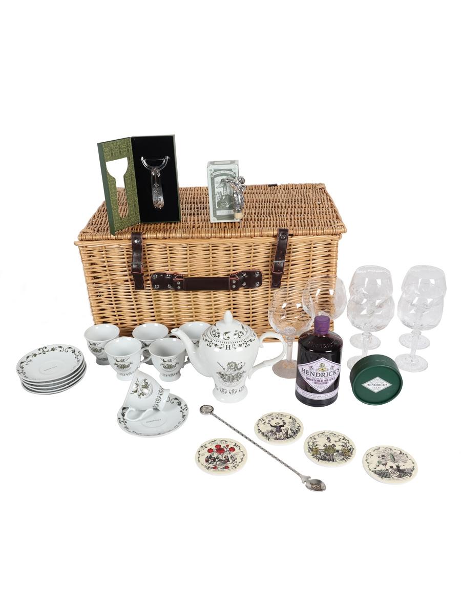 Hendrick's Midsummer Solstice Hamper Set Includes Tea Set, Glasses, Pourer & Accesories 70cl / 43.4%