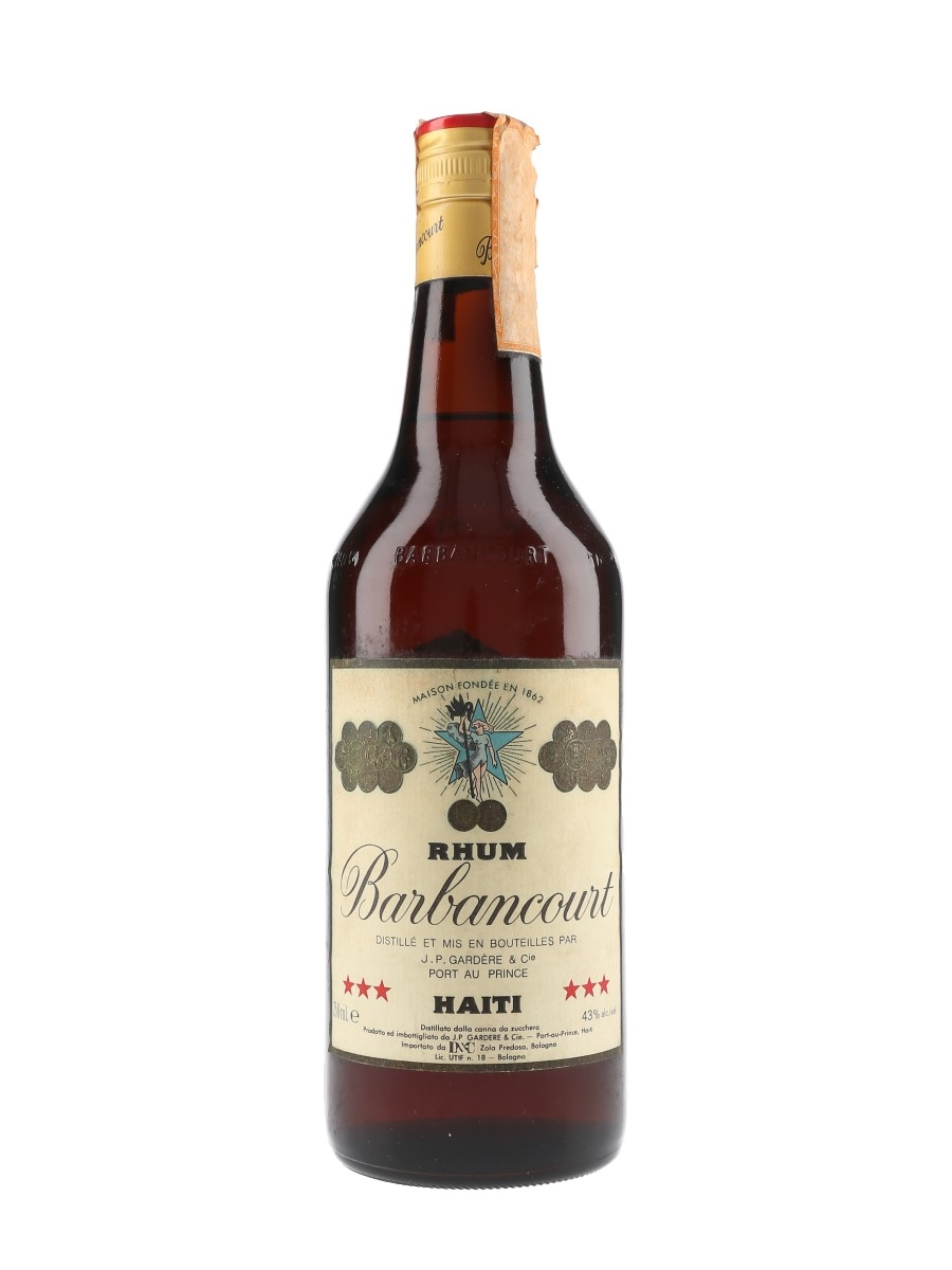 Barbancourt 3 Star 4 Year Old Rhum Bottled 1980s - D&C 75cl / 43%