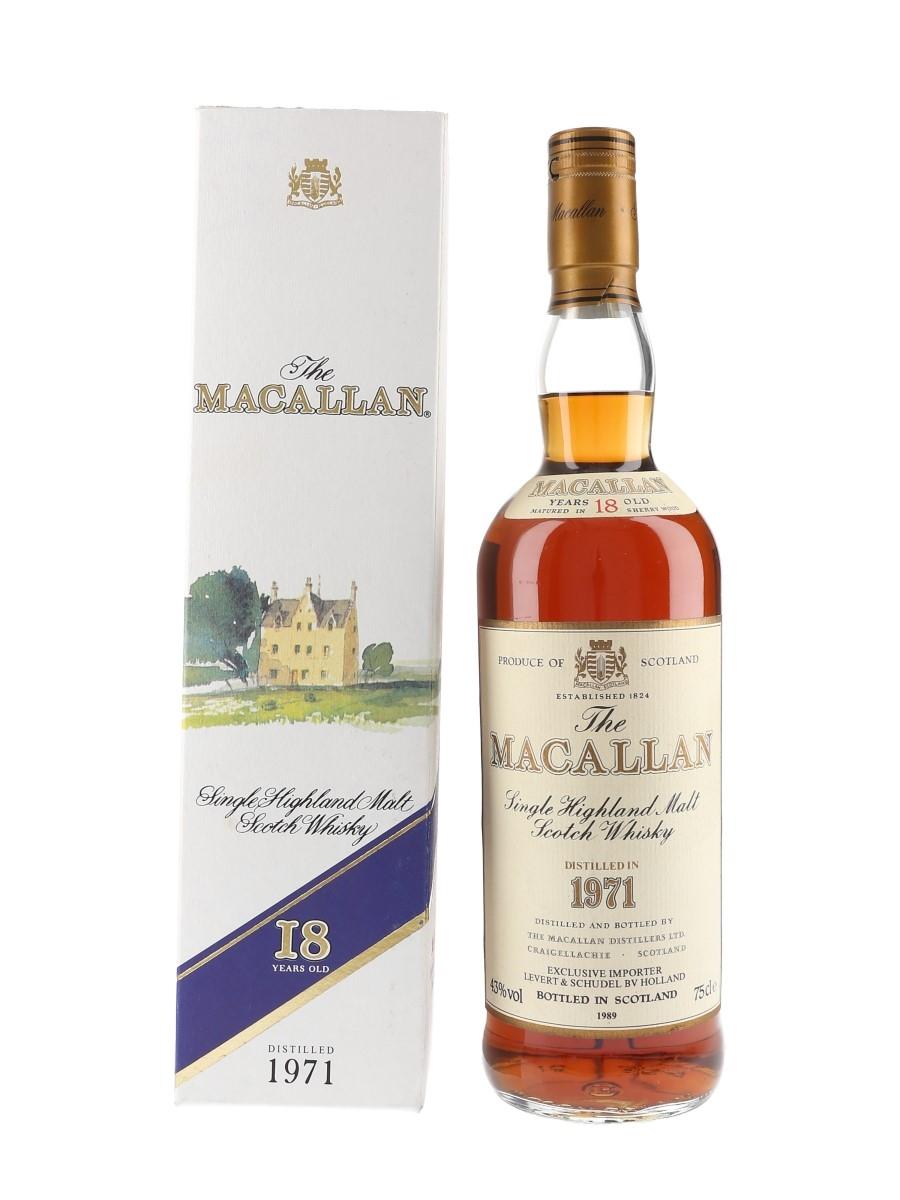 Macallan 1971 18 Year Old Bottled 1989 - Levert & Schudel 75cl / 43%
