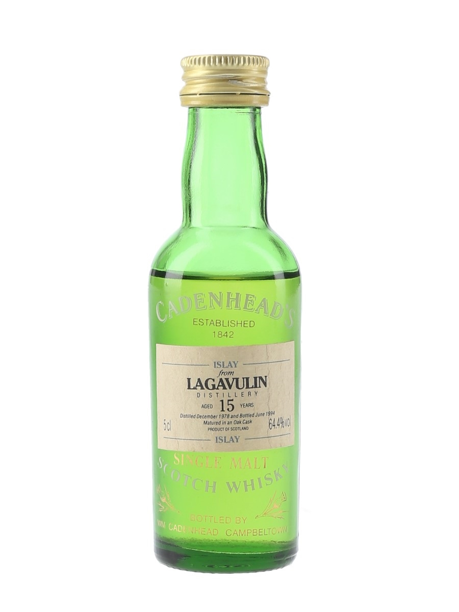 Lagavulin 1978 15 Year Old Bottled 1994 - Cadenhead's 5cl / 64.4%