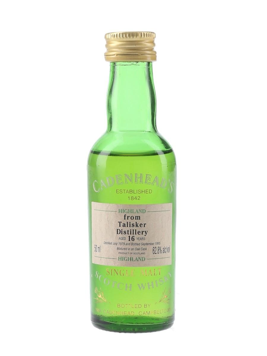 Talisker 1979 14 Year Old Bottled 1995 - Cadenhead's 5cl / 62.8%