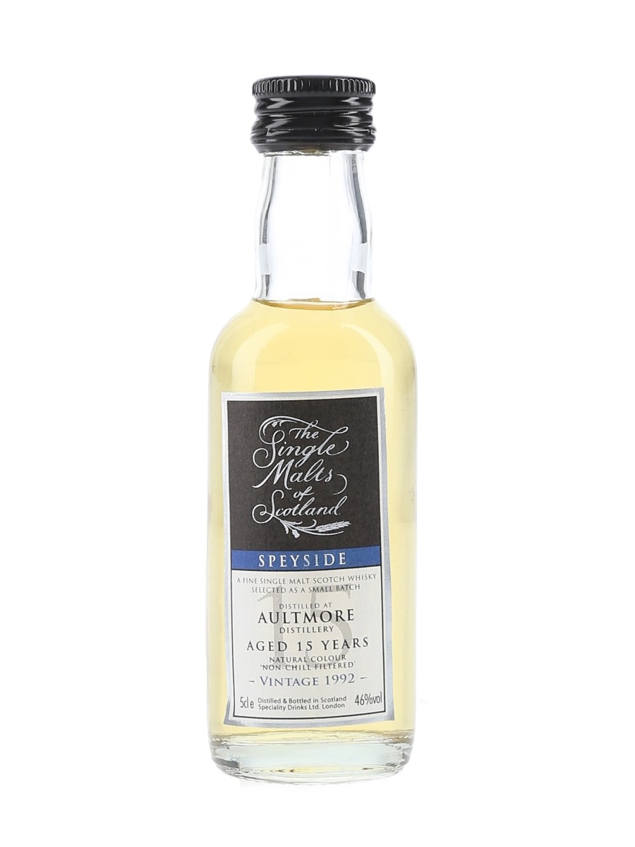 Aultmore 1992 15 Year Old Single Malts Of Scotland 5cl / 46%