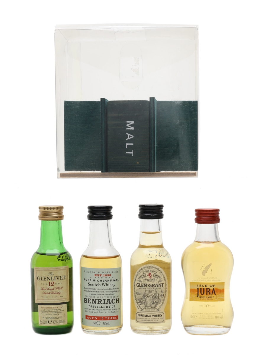 Classic Malt Collection Benriach, Glen Grant, Glenlivet, Isle Of Jura 4 x 5cl