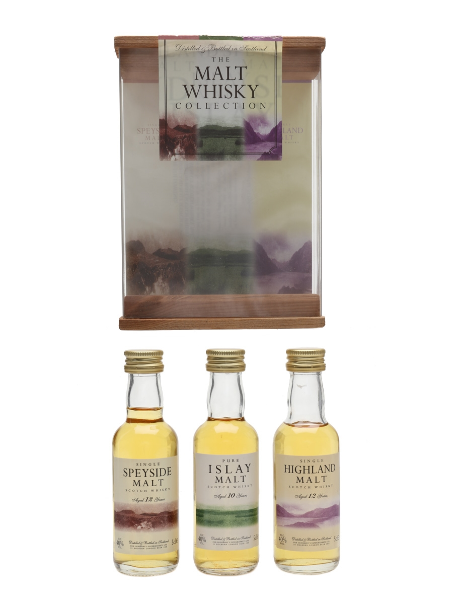 Sainsbury's Malt Whisky Collection Speyside, Islay, Highland 3 x 5cl / 40%