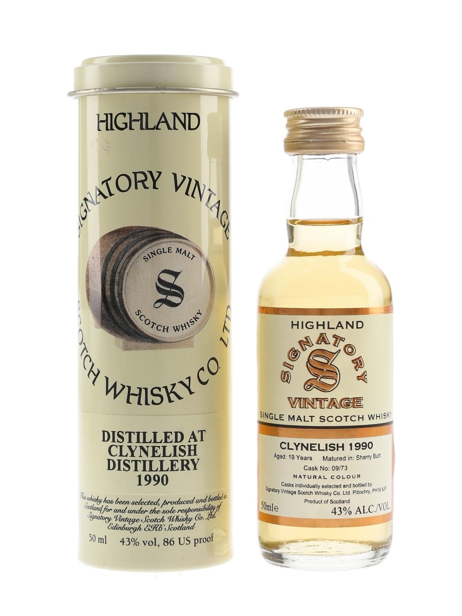 Clynelish 1990 19 Year Old Signatory Vintage 5cl / 43%