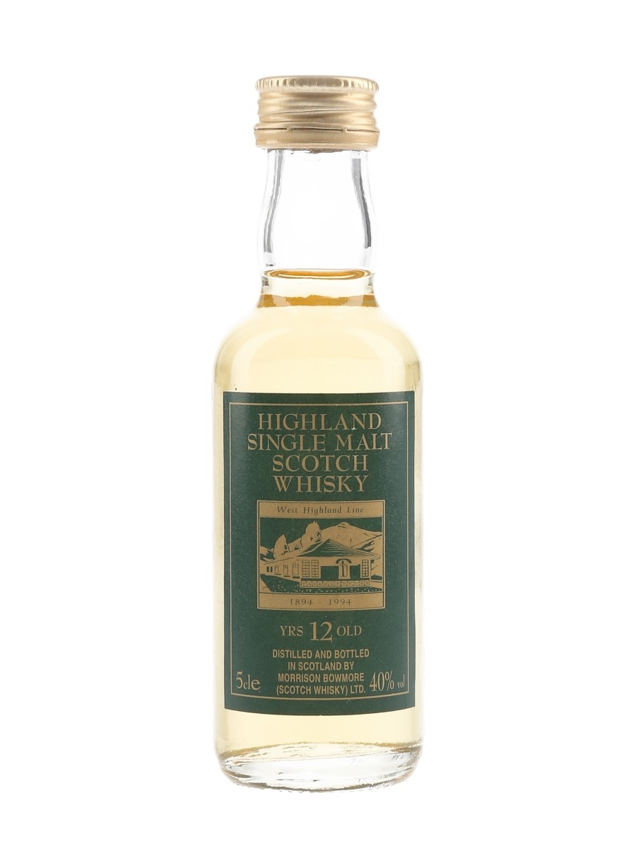 West Highland Line 12 Year Old Morrison Bowmore Ltd. 5cl / 40%