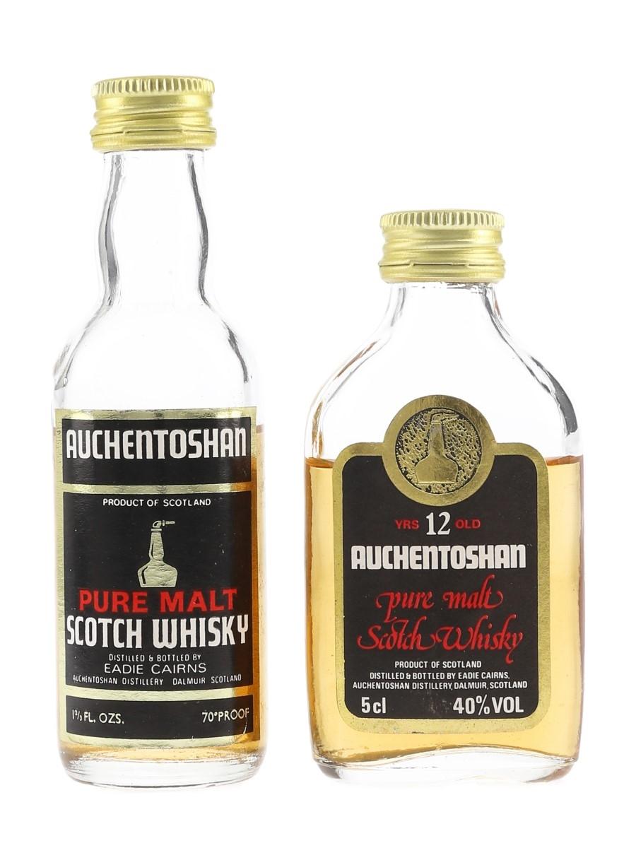 Auchentoshan 12 Year Old & Pure Malt Bottled 1970s & 1980s 4.7cl & 5cl / 40%