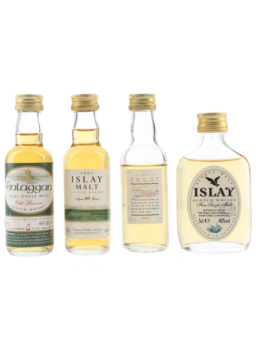Assorted Islay Malt Scotch Whisky  4 x 5cl / 40%